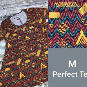 Lularoe Perfect T Size Medium Multicolor Geometric